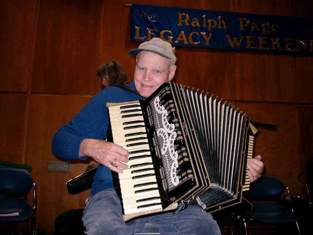 Bob McQuillen with his Squeezebox