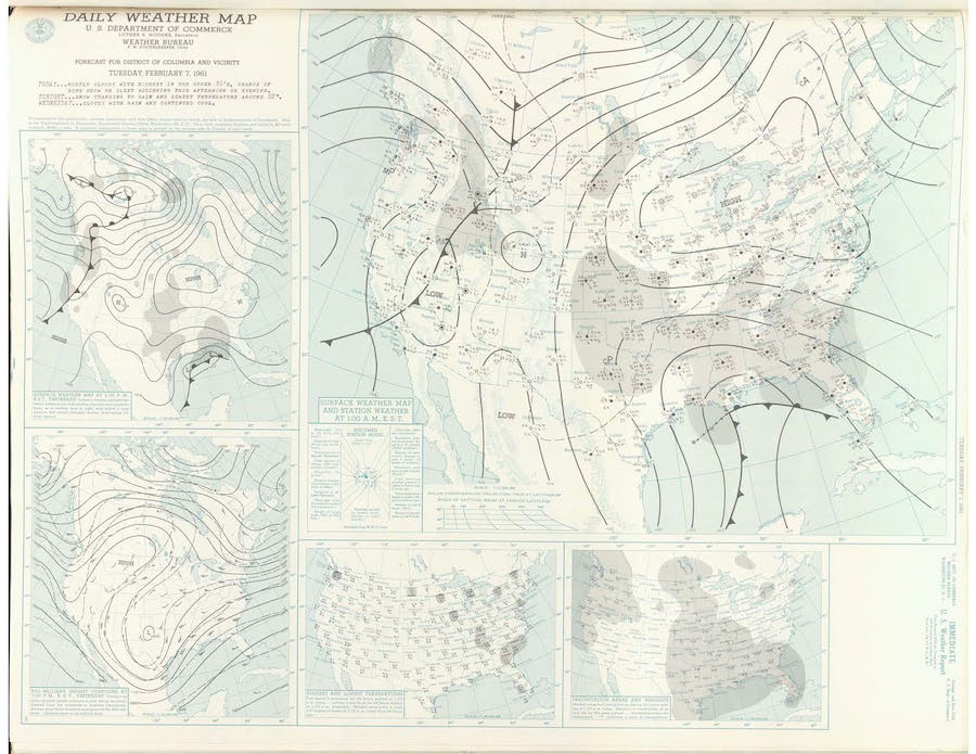 Weather Map, 2-7-1961
